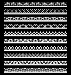 seamless lace border vector image vector image