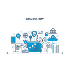 Security data integrity protection deposits vector