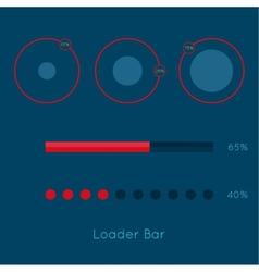 Set of downloaders vector image vector image