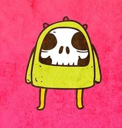 Skeleton Disguised as an Alien Cartoon vector image vector image