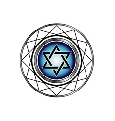 Star of david- jewish religious symbol vector