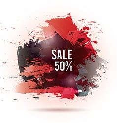 Watercolor-sale-red-gray vector image