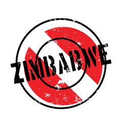 zimbabwe rubber stamp vector image vector image