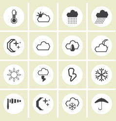 - weather icons set vector image