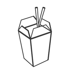 Chinese takeout food icon vector