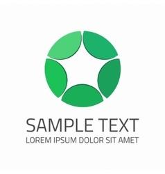 Green star logo template vector image