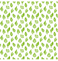 Nature green leaf seamless pattern vector