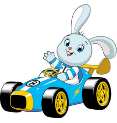 Bunny in a sport carxa vector