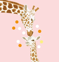 Giraffe and baby vector
