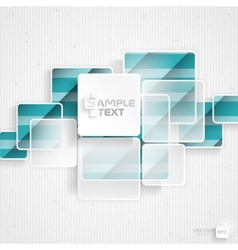 White Square Element On Stripes Background vector image
