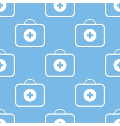Medic bag seamless pattern vector