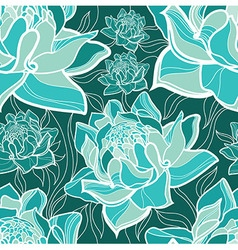 Flowers seamless 01 vector