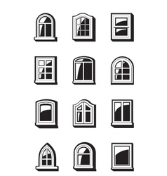 Different windows of buildings vector
