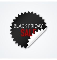 Sticker Black Friday discounts vector image
