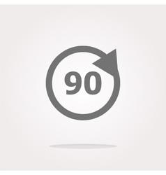 90 percent web icon web button vector