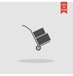 Wheelbarrow for transportation of cargo web icon vector
