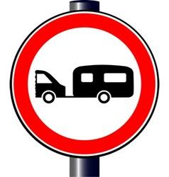 Caravan Sign vector image