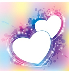 abstract with hearts vector image vector image