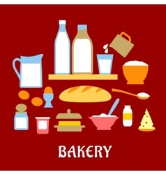 Bakery concept with dough ingredients vector