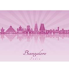 Bangalore skyline in purple radiant orchid vector image vector image