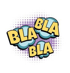 bla comic word vector image