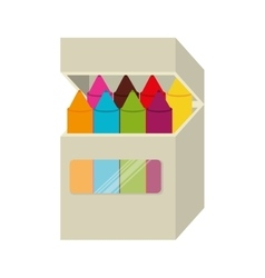 box crayons color school isolated vector image vector image