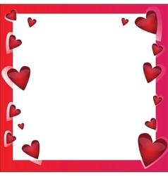 Bright frame - in love vector image