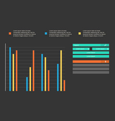Business infographic with design graphic vector