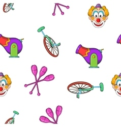 Circus performance pattern cartoon style vector
