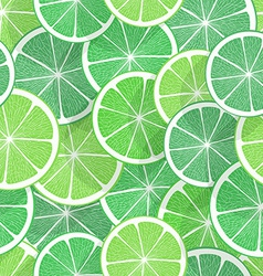 Citrus seamless background Lime vector image vector image