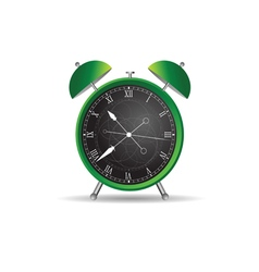 clock ancient green vector image vector image