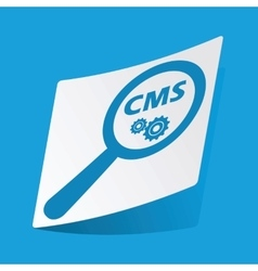 Cms search sticker vector
