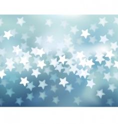 defocused lights in star shape vector image
