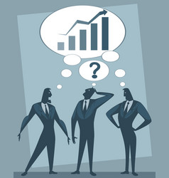 Discussion of three businessmen vector