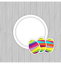easter card template vector image vector image
