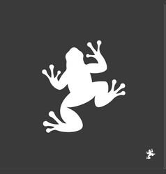 frog sign minimalism modern mark logo vector image vector image