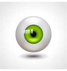 Green eye vector image