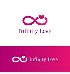 Infinity sign with heart logotype modern vector