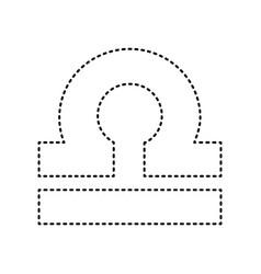 Libra sign black dashed icon vector