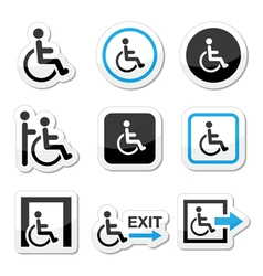 Man on wheelchair vector