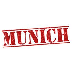 Munich grunge stamp vector