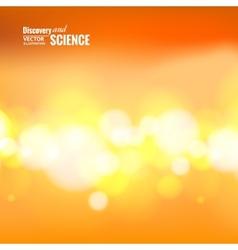 Orange science background vector image vector image