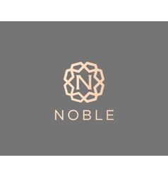 Premium letter n logo icon design luxury vector