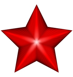 red star vector image vector image