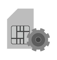 SIM Management vector image
