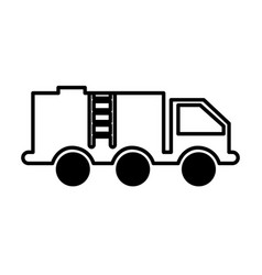 truck oil transport icon vector image
