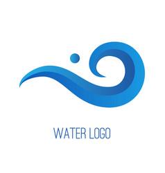 water gradient logo vector image