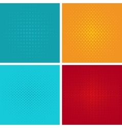 Pop art background set vector image