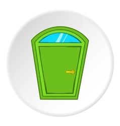 Door from house icon cartoon style vector
