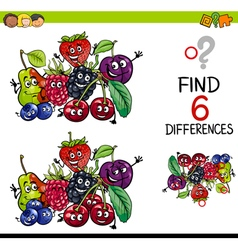 Difference game with fruits vector
